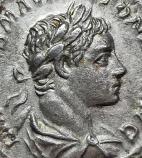 Emperor Elagabalus on silver denarius